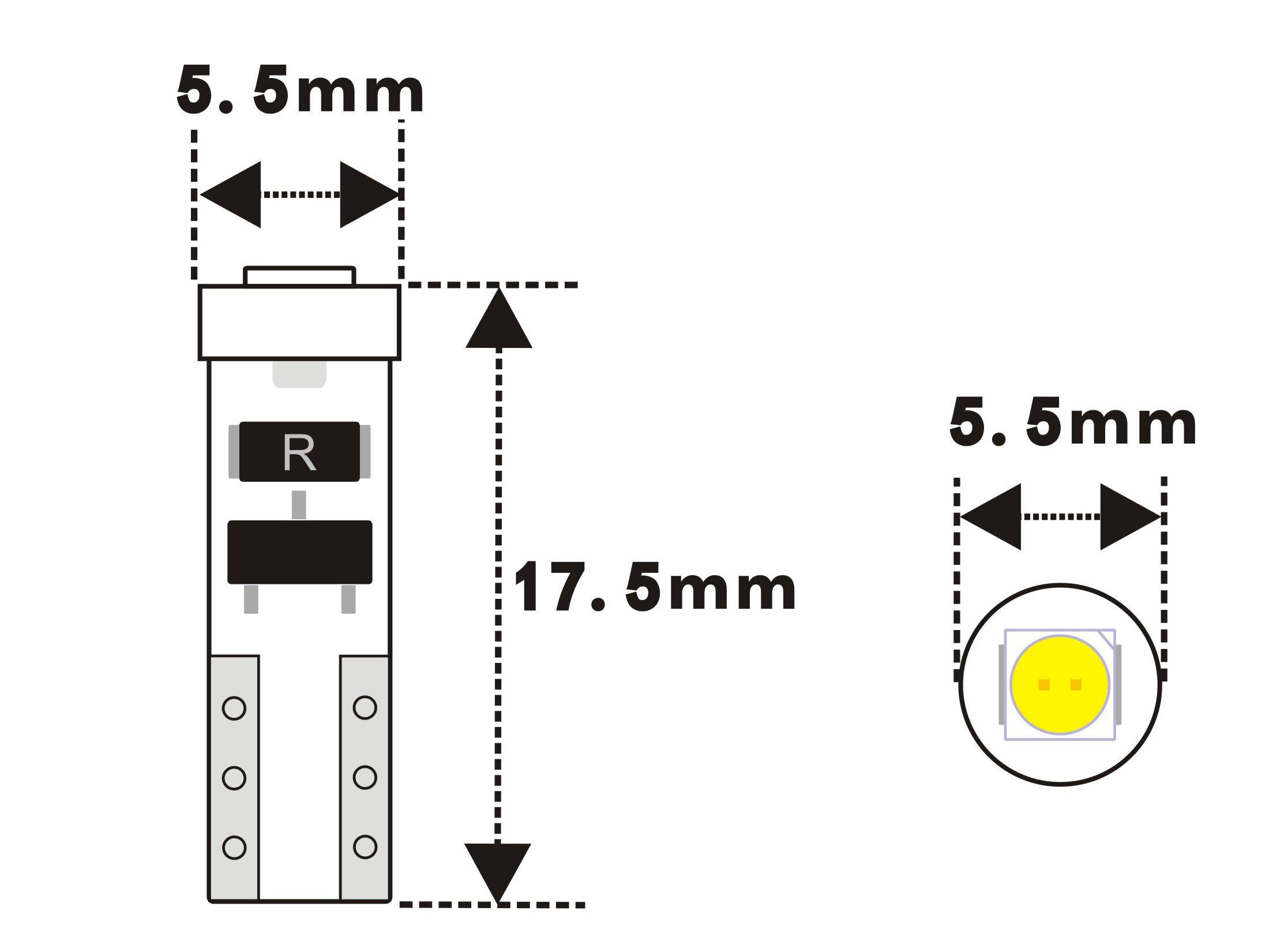 79 Led Bulb T5 Wedge Base 1 6 Volt