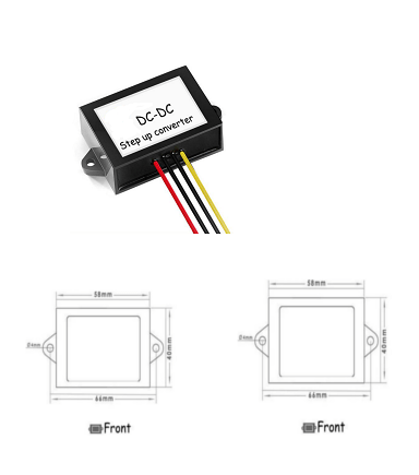 LED Headlight Converter 6 Volt to 12 Volt 4A Single