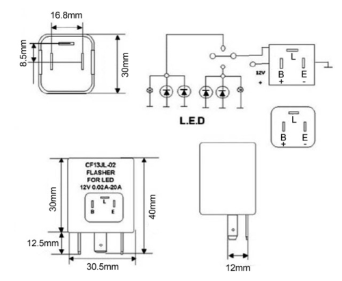 small resolution of led compatible flasher ep35