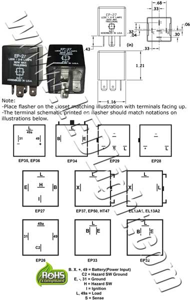 electronic flasher relay circuit diagram