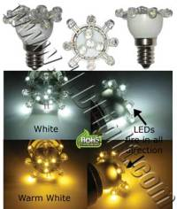 E12 Low Profile 12 LEDs Light Bulb 120V A.C. - Household ...