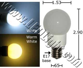 A15 20 Watt Equivalent LED Appliance Bulb 120 VAC E17