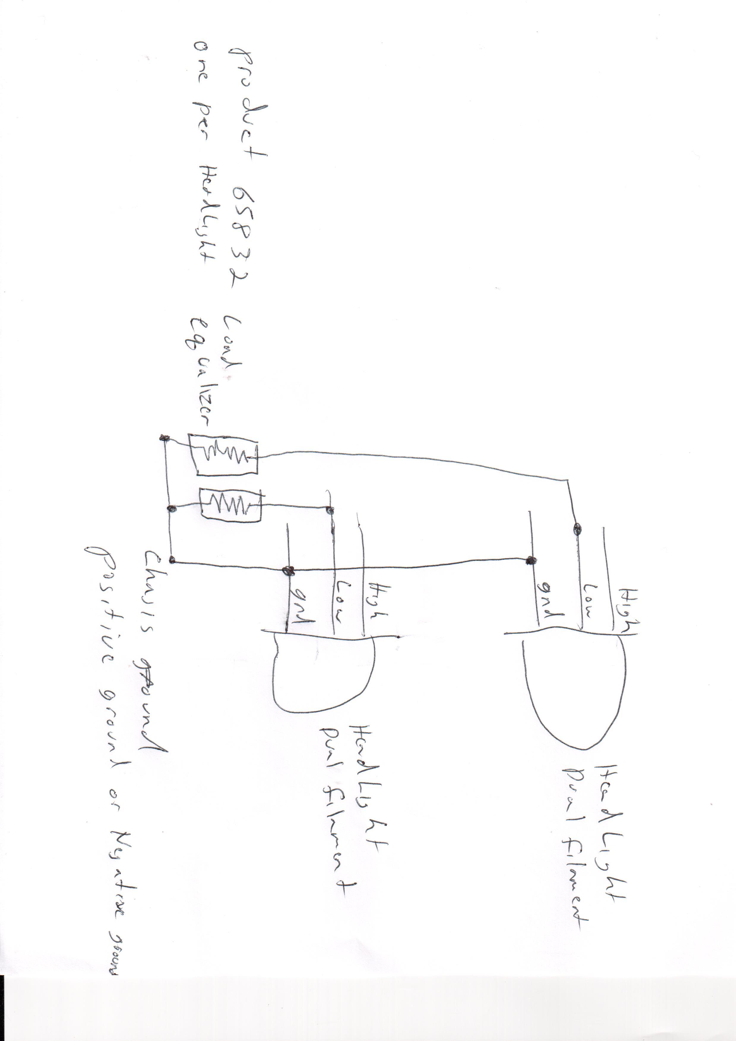 Led Headlight Load Equalizer 6 Volt 6 Ohm 50 Watt Pair
