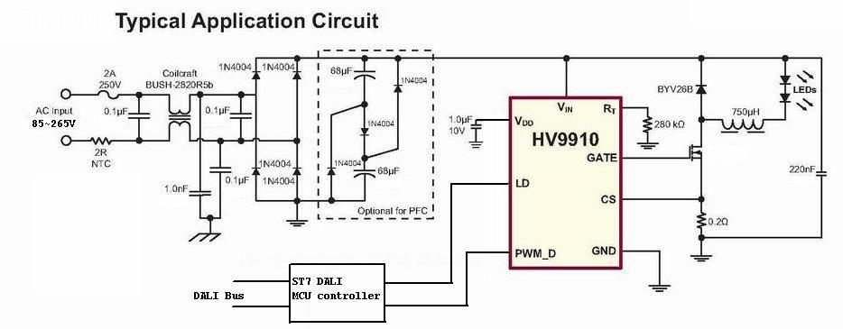 lighting control system wiring diagram analog data acquisition block dali lamp controls led lights