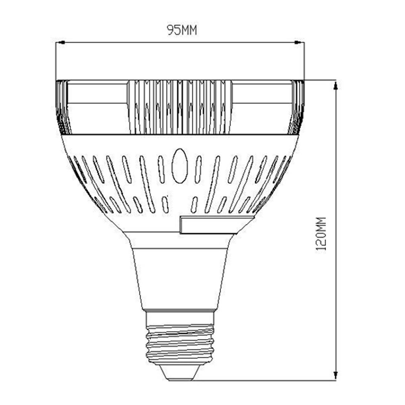 Par30 E26 40 Watt Led Spotlight Using Osram Led Chip E26