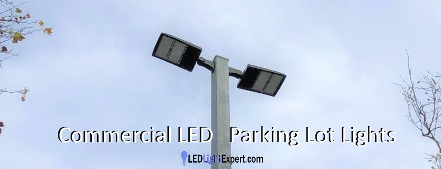 commercial led parking lot lights and