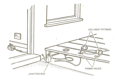 How to put lights in decking