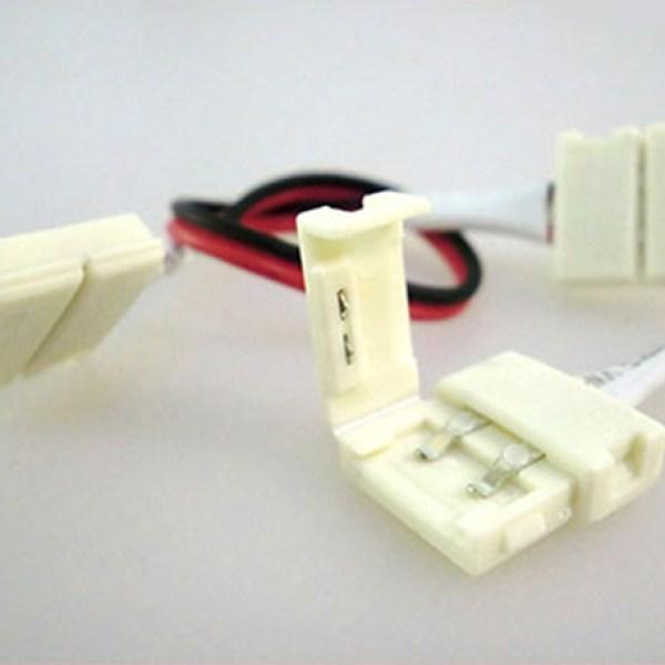 4 PZ Connettore 12mm Per Collegare Due Strip Led Smd 5050 Monocolore Senza Saldare