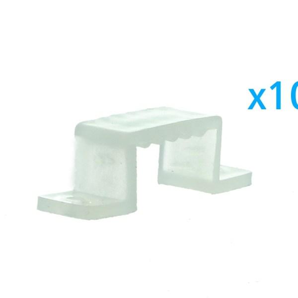 10 PZ Clip Fissaggio Rigido Passo 16X10 mm Per Fissare Bobina Striscia Led Impermeabile