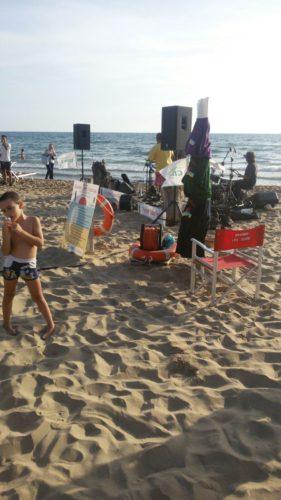 Allestimento sul far del tramonto per Sabaudia Sunset Jazz Festival 3a edizione