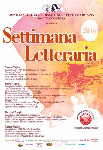2016 Settimana Letteraria 2016