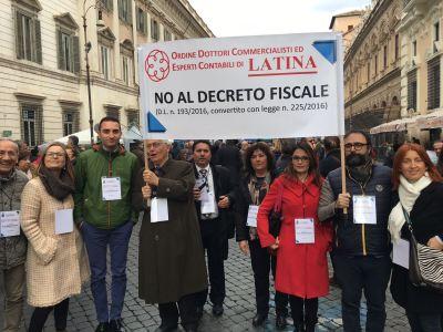 Commercialisti a  Roma contro il decreto fiscale: presente anche l'Ordine di Latina 1