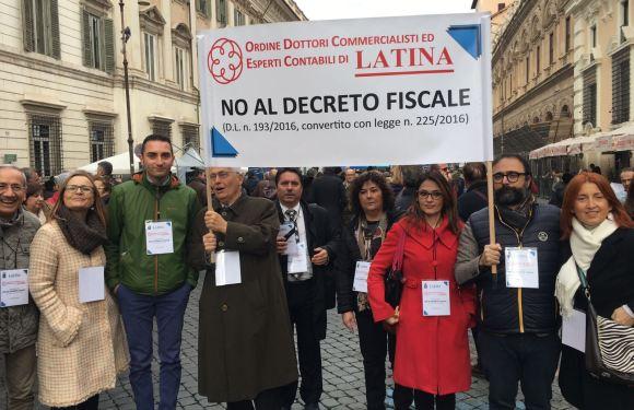 Commercialisti a  Roma contro il decreto fiscale: presente anche l'Ordine di Latina