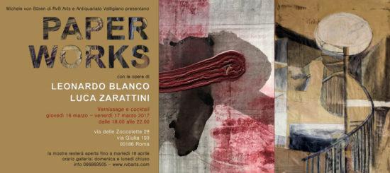 """Mostre a Roma - Gli inediti """"Paper Works"""" di Blanco e Zarattini alla galleria Rvb Arts 1"""