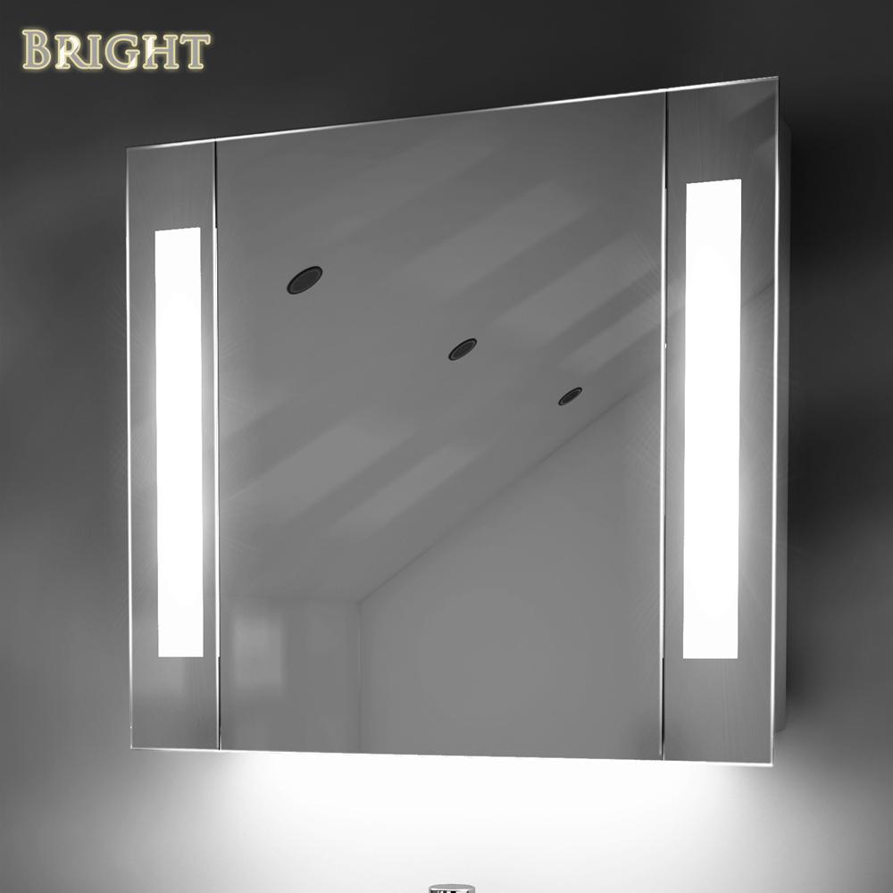 LED Lighted Medicine Mirror Cabinets  China LED Bathroom Mirror Manufacturer Illuminated