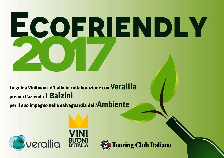 Diploma Ecofriendly per I Balzini