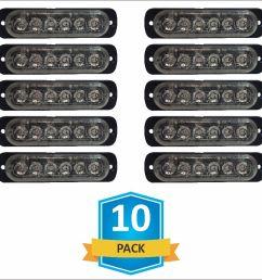 damega flex 6 slim led grille light 10 pack  [ 961 x 886 Pixel ]