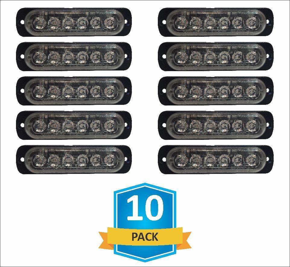 hight resolution of damega flex 6 slim led grille light 10 pack