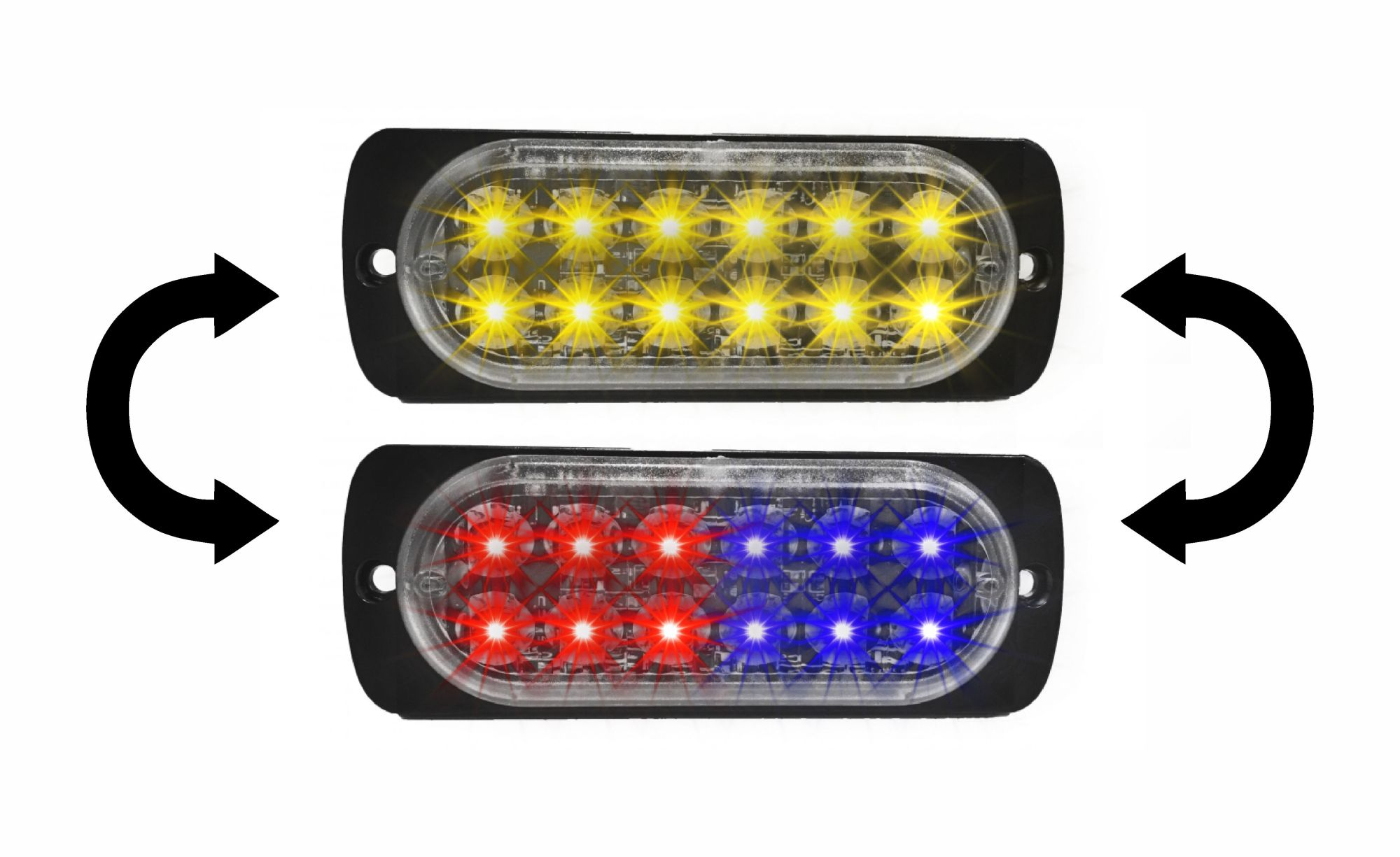 hight resolution of damega dual color chameleon flex 12 grille light