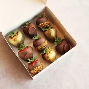 LE DOUX FRUIT PATISSERIE ARTISANALE MONTPELLIER _ BOX FRAISES CHOCOLAT