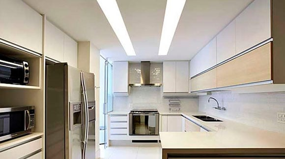 Aplicação Lâmpada de LED Tubular na Cozinha