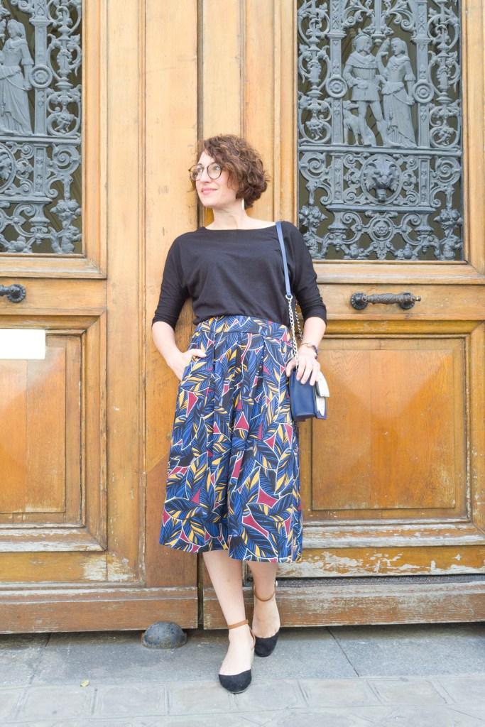 jupe midi wax ethnique camaïeu paris parisienne blog mode faschion porte parisienne été emma et chloé emma & chloé bijoux créateur
