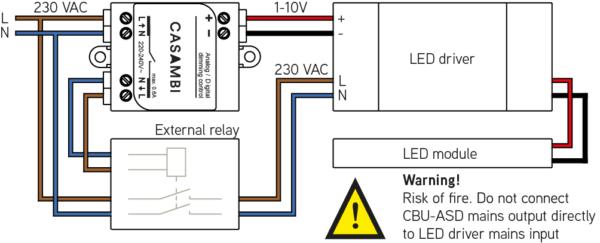 10v Dimming Wiring Diagram 0 1 10v Dali Interface Connected Light Ledsgo