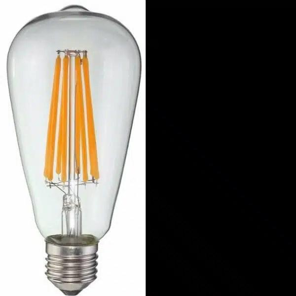 E27 LED lamp 8W50W 2200k dimbaar ST64  LEDshoponlinebe