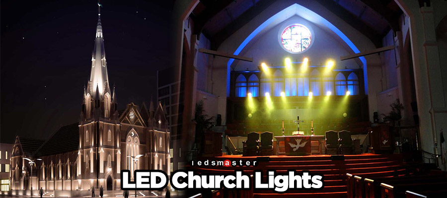 LED Flood Lights for Church and Interior Sanctuary Stage