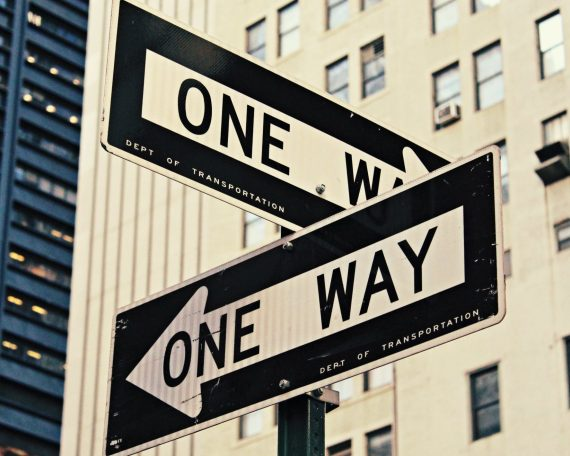 One way sign in New York