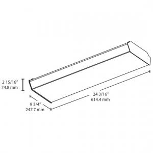 Low-Maintenance 18W & 25W 2' LED Surface Wrap w/0-10V