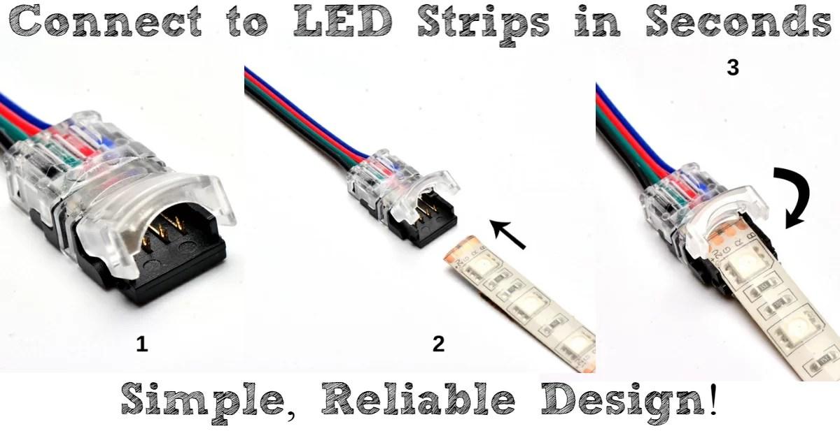 24v trailer socket wiring diagram riding lawn mower dealers 12 volt led light strips powering and ledsupply blog easy clip on connectors for