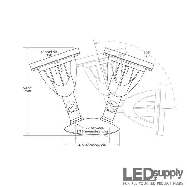 18.8-Watt LED Flood Light