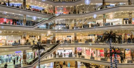 iluminacion led en centros comerciales
