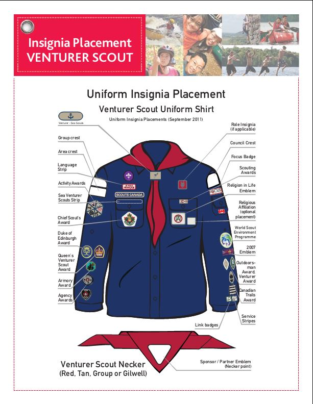Badge Placement And Uniform Requirements 2nd Leduc Scouting