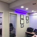 Blue Light in Dentist Office