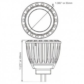 4W LED MR11 Spot or Flood Light Bulb 12-Volt AC/DC (6-Pack