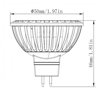 MR16 UL 5W (35W Equivalent) LED Spot Light with