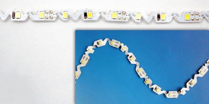 LED Strip Light - Zigzag Shape FA60S28-3M-12V-X - LED World Canada
