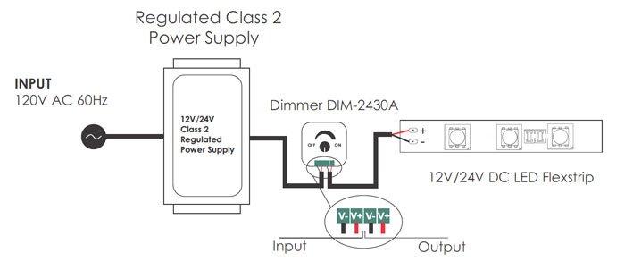 Led Low Voltage Mini Dimmer Dim-2430a