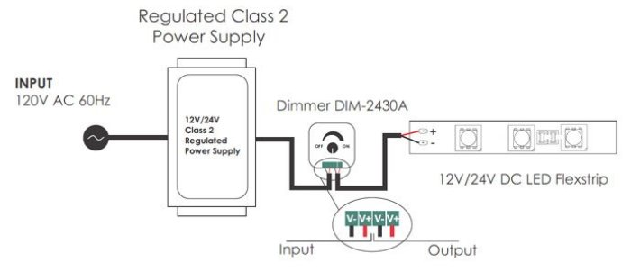 led low voltage mini dimmer dim-2430a