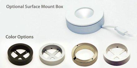 Surface mount box color options