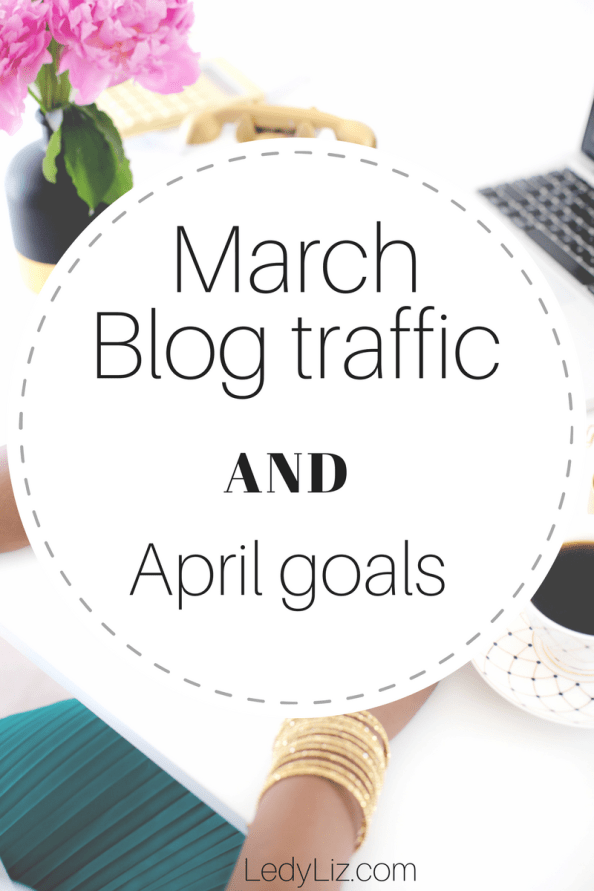 Increase your reach as a blogger and become more productive and less- stressed by documenting blog traffic and writing down your blogging goals. Are you a blogger trying to reach your goals? so, am I! Check out how I am increasing my reach. March blog traffic and April goals.