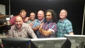 With some of the Beacon Presenters from 'my' time, at a reunion in the West Mids Studio. Image by Andy Walters