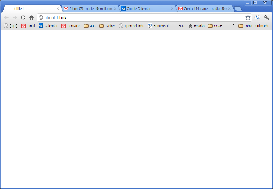 Lee org » Blog Archive » How to Open Chrome to a Blank Page