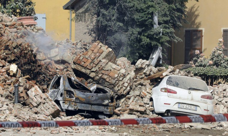 Image result for photo of italy earthquake