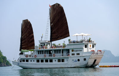 our boat in Ha Long Bay