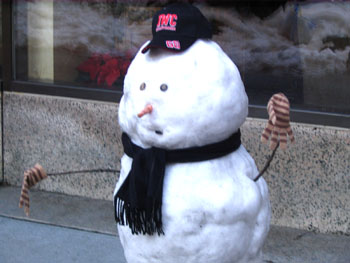snowman spotted in the city