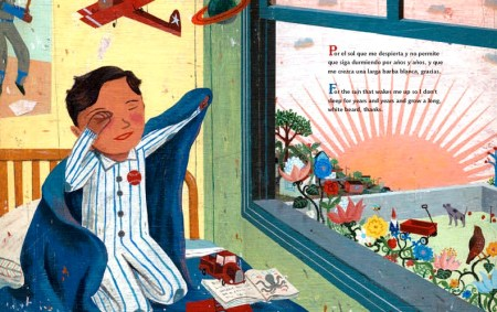 illustration from Gracias Thanks illustrated by John Parra written by Pat Mora 2010 Pura Belpre Honor Book