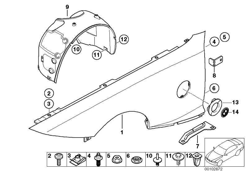 Clipmutter M6 1er 3er X1 X3 X5 X6 Z4 MINI (41357060601